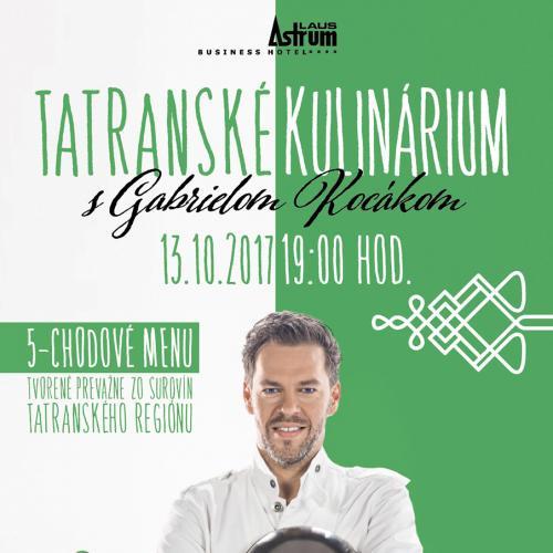 Live Cooking Show - Gabriel Kocák - Tatranské kulinárium 13.10.2017